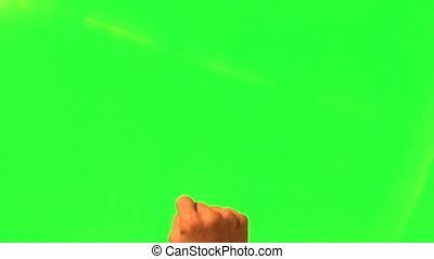 Male hand gestures - green screen and alpha matte