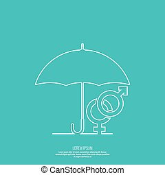 Male hand holding an umbrella.
