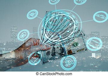 Digital banking concept