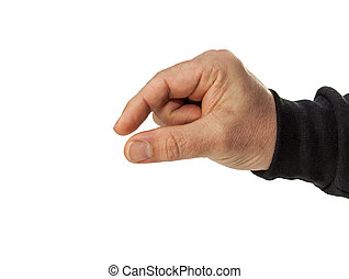 male hand isolated on white