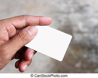 card close-up
