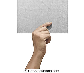 Male hands holding empty paper