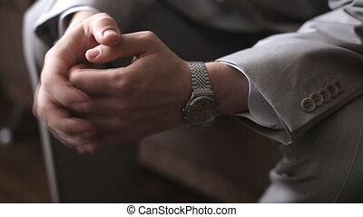 Male hands locked - Mens hands locked