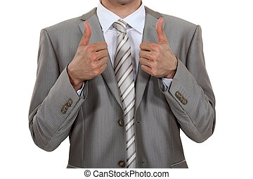 Male hands with ok gesture
