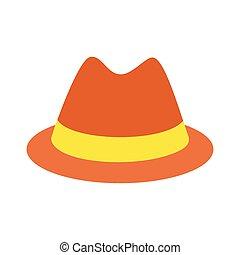 Male hat flat icon