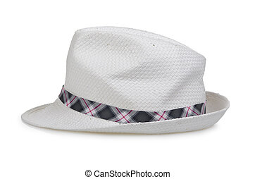 Male hat isolated on white