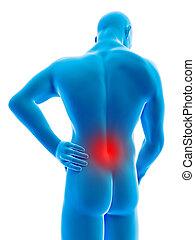 Male having backache