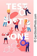 Male Health Concept. Tiny Characters Patients and Doctor at ...