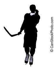 Male Hockey Illustration Silhouette