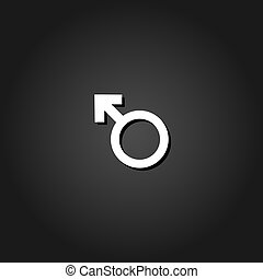 Male icon flat
