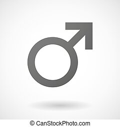 male  icon on white background