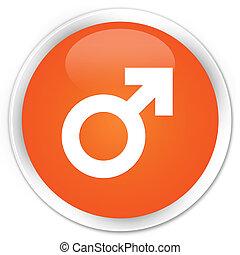 Male icon orange button