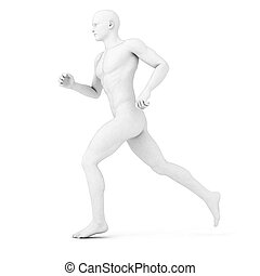 male jogger - 3d rendered illustration of a male jogger in...