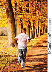 Male jogger in the park
