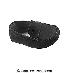 male leather loafers pair isolated on white background