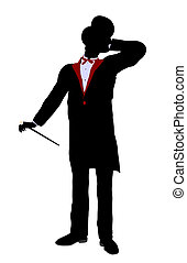 Male Magician Illustration Silhouette