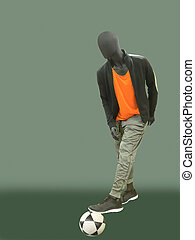 Male mannequin dressed in sport athletics clothes