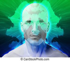 Male mental health inkblot - Male psychiatric treatment...
