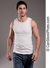 Male model half length shot