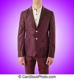 Male model in fashion concept