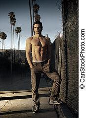 Male model portrait - Fashion style portrait of a classic...