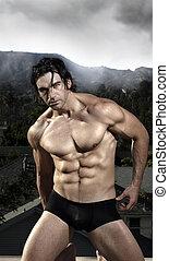 Male model - Fashion portrait of a sexy masculine male model...