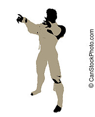 Male Mummy Illustration Silhouette - Male mummy silhouette...
