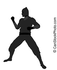 Male Ninja Illustration Silhouette