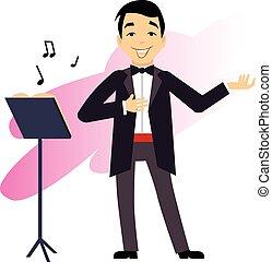 Male Opera Singer vector illustration