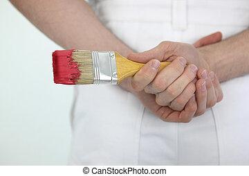 Male painter decorator