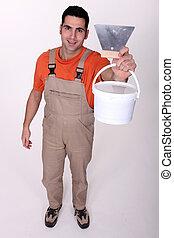 Male plasterer