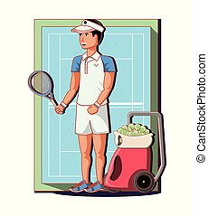 male player tennis character