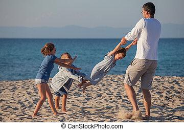 Male Playing Kids Carousel
