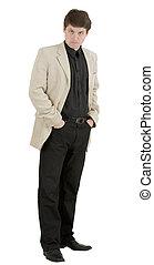 Male portrait in light jacket