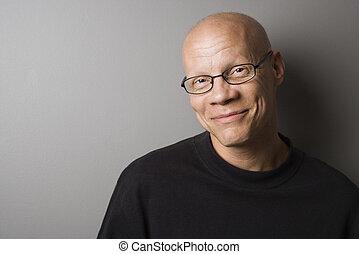 Male portrait. - Portrait of mid-adult Caucasian male.