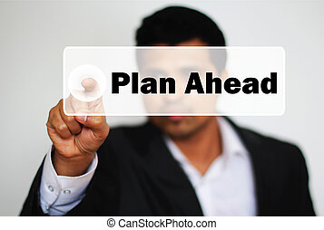 Male Professional Choosing to plan ahead