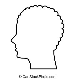 male profile silhouette icon
