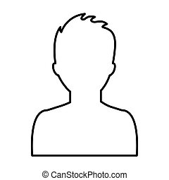 male profile silhouette icon