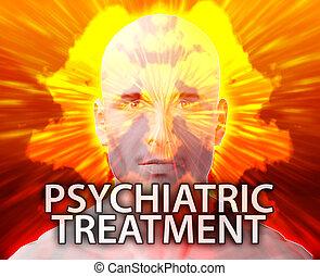 Male psychiatric treatment mental health rorschach inkblot...
