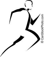 Male Runner Stylized