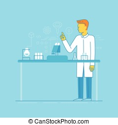 Male scientist working in the lab