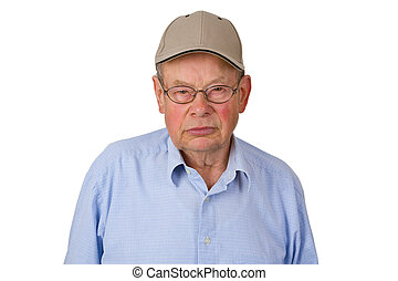 Male senior with cap