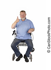Male Senior with Rollator