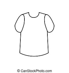 male shirt isolated icon