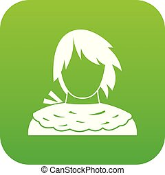 Male shorn icon digital green for any design isolated on...
