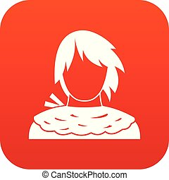 Male shorn icon digital red for any design isolated on white...