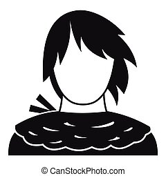Male shorn icon, simple style - Male shorn icon. Simple...