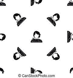 Male shorn pattern seamless black - Male shorn pattern...