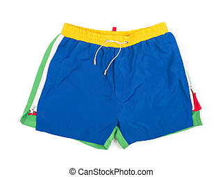 Male shorts on a white background