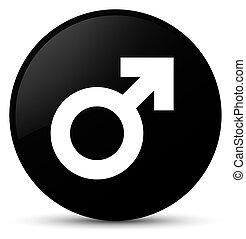 Male sign icon black round button